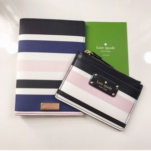 NWT Kate Spade Passport holder and card wallet